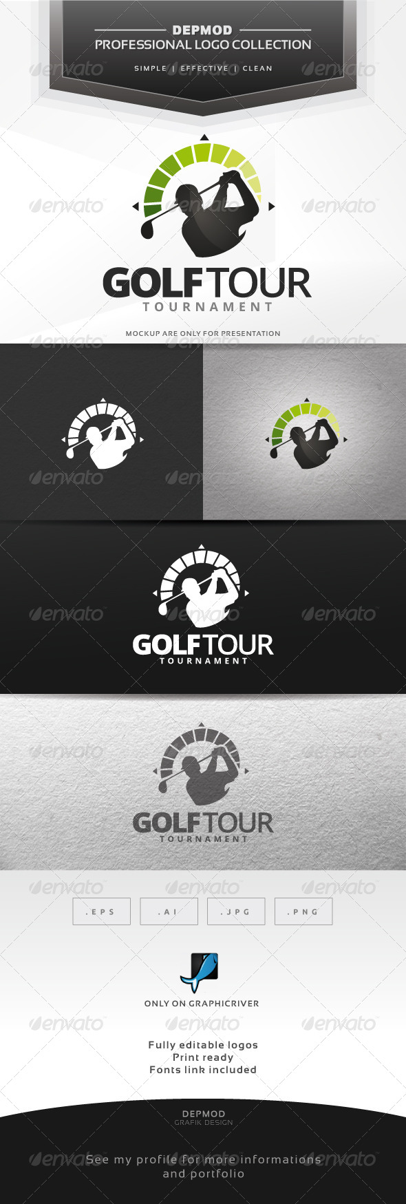 Golf Tour Logo - Humans Logo Templates