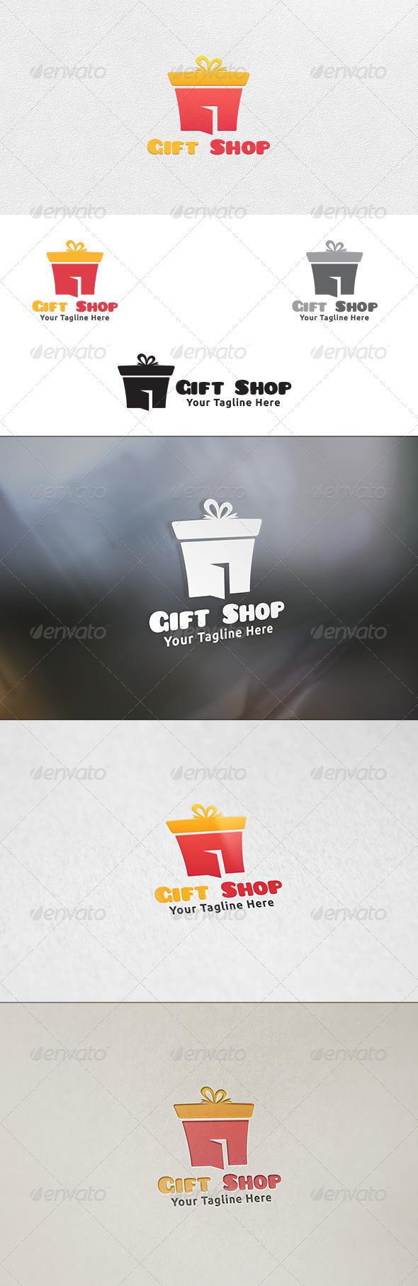 Gift Shop - Logo Template - Buildings Logo Templates