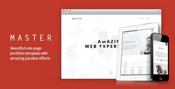 Master – Creative Portfolio Template