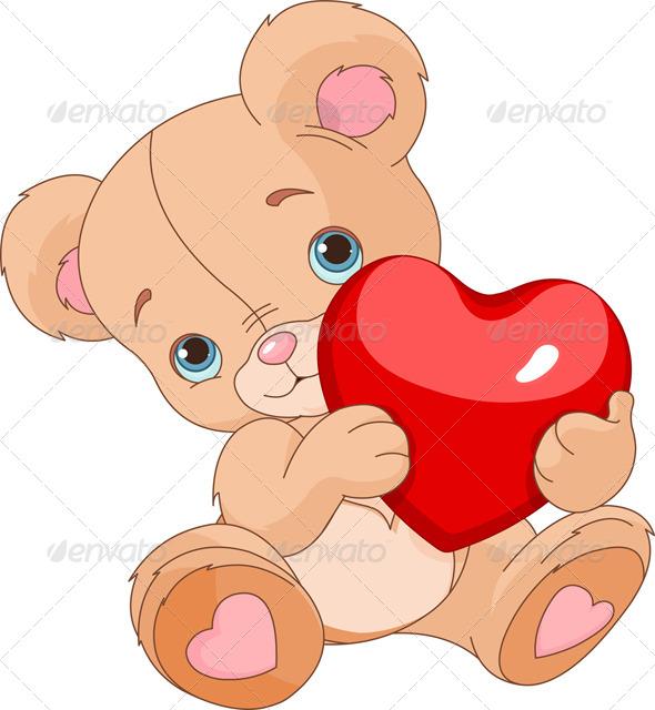 Valentines Teddy Bear - Valentines Seasons/Holidays