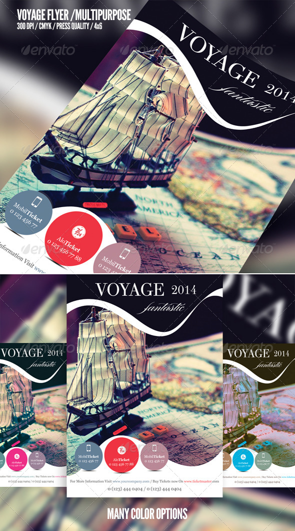 Voyage / Multipurpose Flyer Template - Corporate Flyers