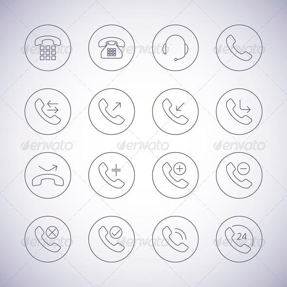 Phone Icons Set - Technology Icons