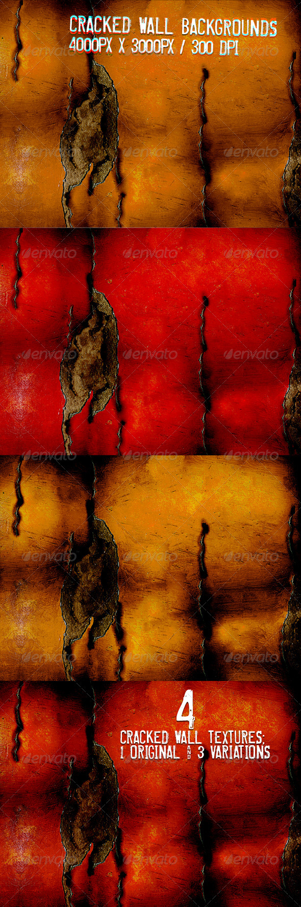 Cracked Wall Textures - Backgrounds Graphics