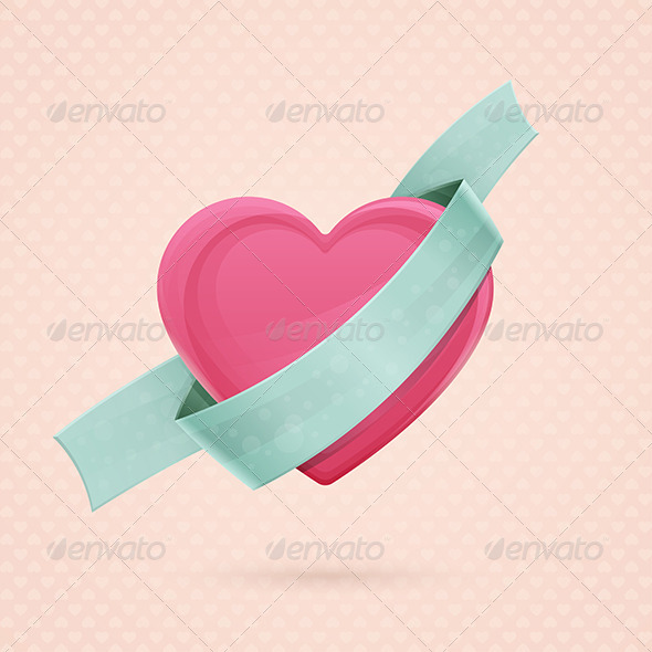 Heart and Ribbon Two - Seasons/Holidays Conceptual