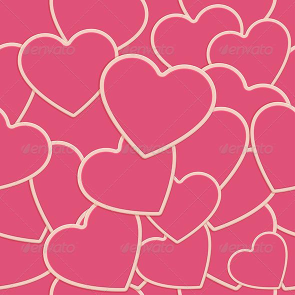 Tile Heart Background One - Decorative Vectors