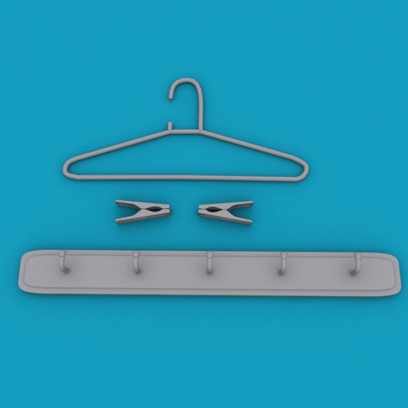 cloth hanger - 3DOcean Item for Sale