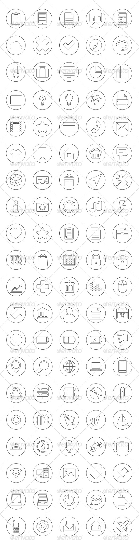 100 Universal Icons Set - Icons