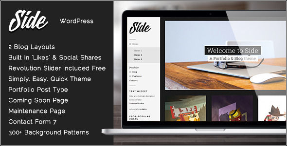 Side - Full Width Creative WordPress Theme - Portfolio Creative