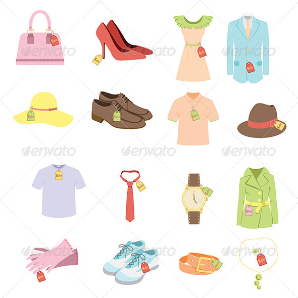 Apparel Sale Tags - Objects Vectors