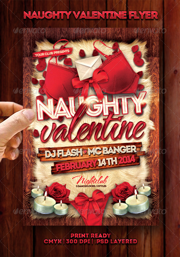Naughty Valentine Flyer - Events Flyers