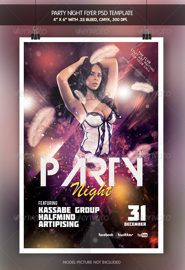 Party Night | Flyer Template - Clubs & Parties Events