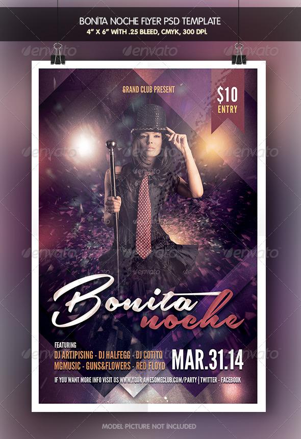 Bonita Noche | Fiesta Flyer - Clubs & Parties Events