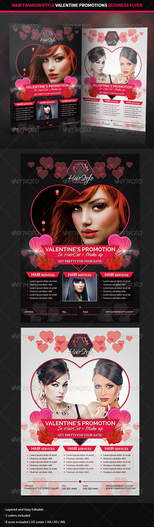 Hair Salon Valentine Promotions Business Flyer By Hollymolly Graphicriver