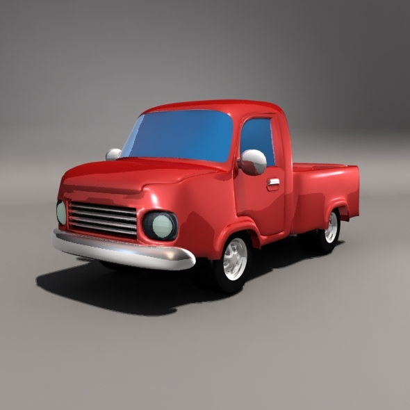 Cartoon Pickup Car - 3DOcean Item for Sale