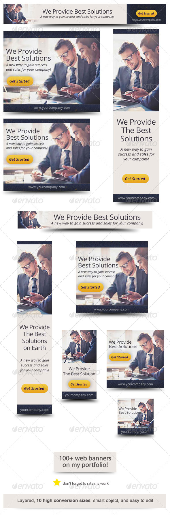 Corporate Web Banner Design Template 34 - Banners & Ads Web Elements
