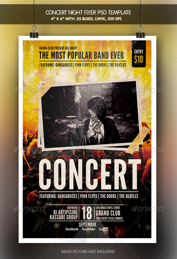 Concert Night Flyer - Clubs & Parties Events