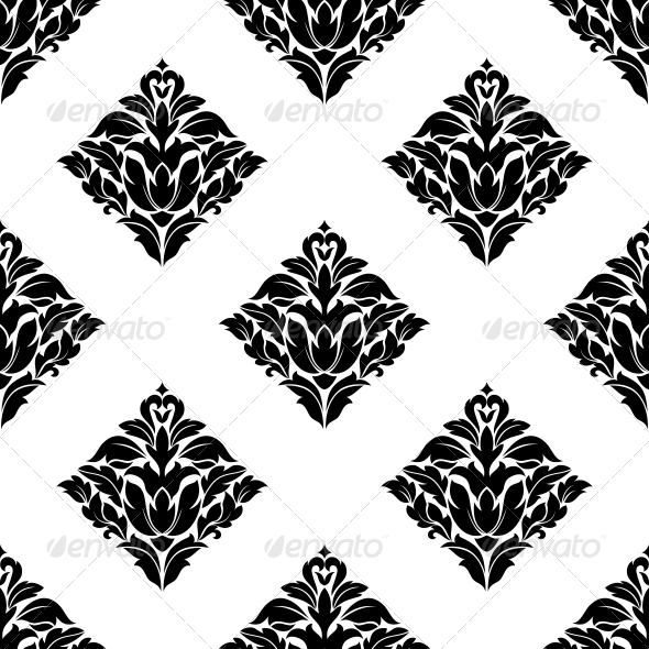 Repeat Seamless Floral Pattern - Patterns Decorative