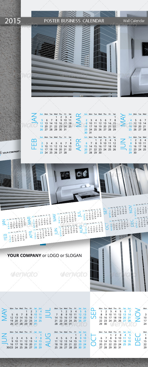 Poster Business Calendar Template 2015 2014 By Artremizov