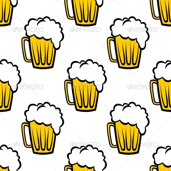 Beer Seamless Pattern - Patterns Decorative