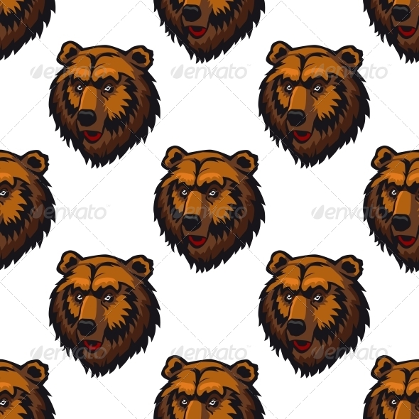 Bear Seamless Pattern - Patterns Decorative