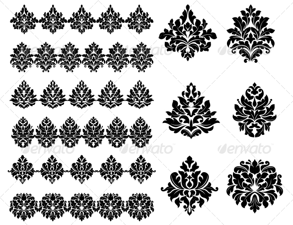 Floral and Foliate Design Elements - Patterns Decorative