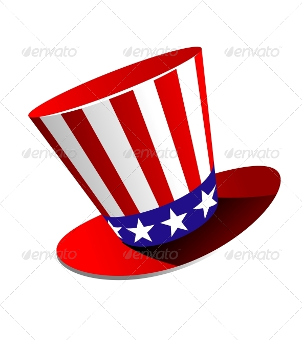 Patriotic American Top Hat - Miscellaneous Vectors