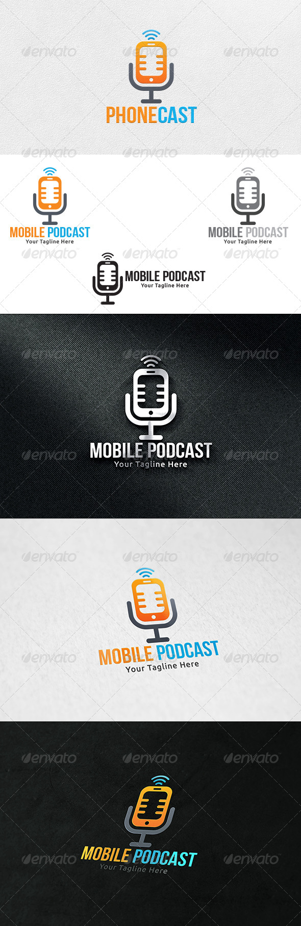Mobile Podcast - Logo Template - Objects Logo Templates