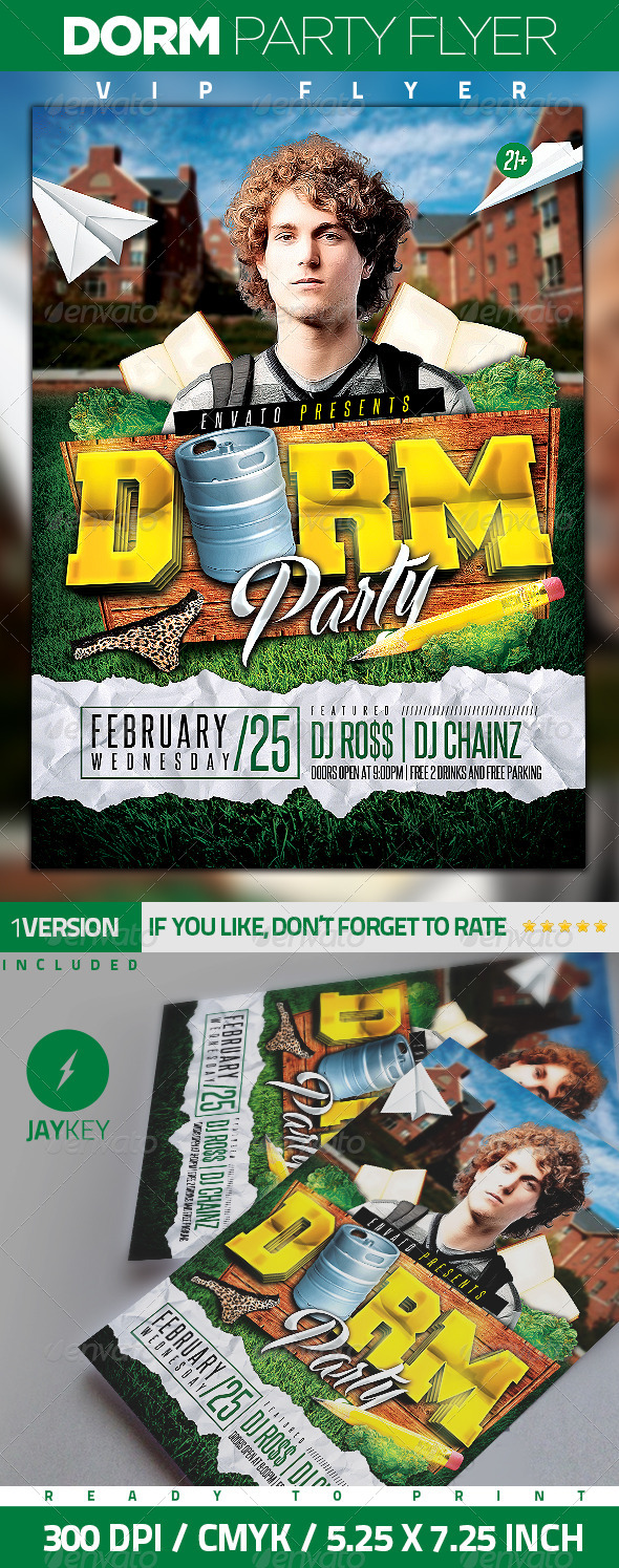 Dorm Party Flyer - Clubs & Parties Events