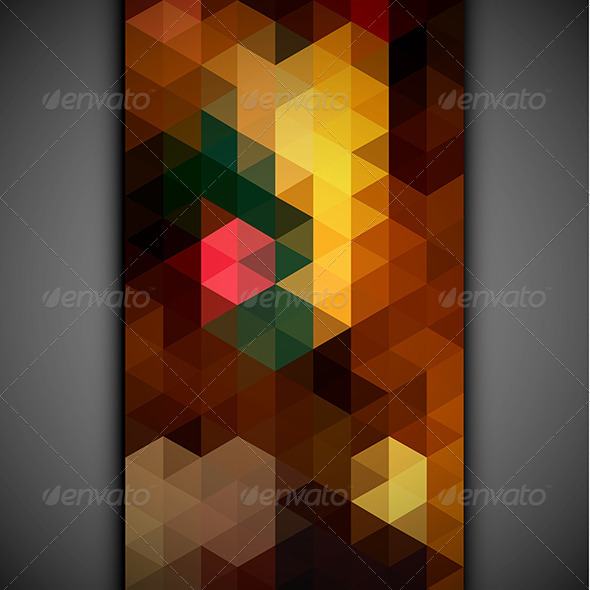 Colorful Triangles Pattern Banner - Abstract Conceptual