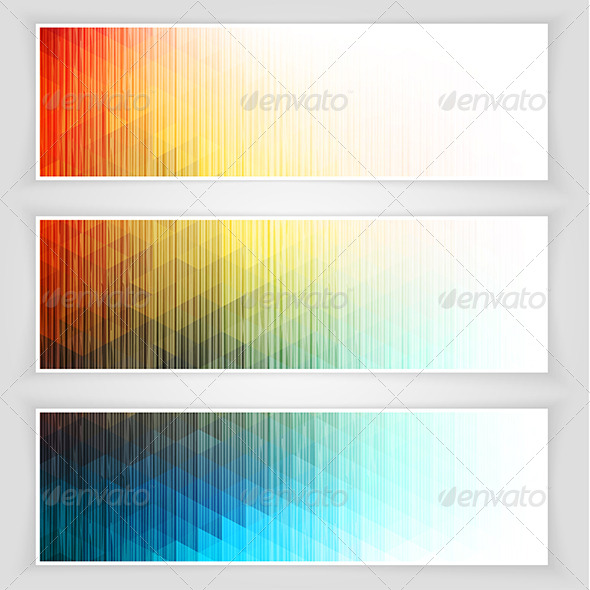 Abstract Banners Collection - Backgrounds Decorative