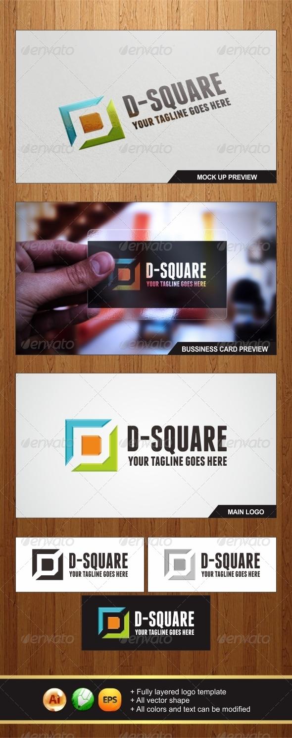 D-Square Logo - Letters Logo Templates
