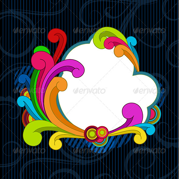 Retro Style Scrolls Background - Backgrounds Decorative