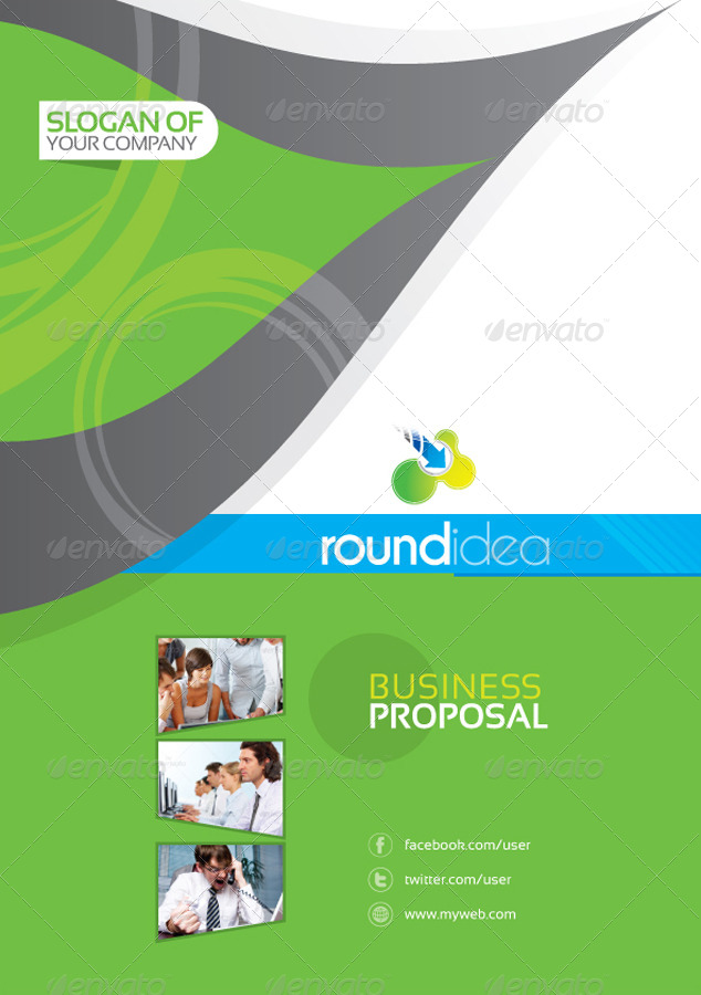 Round idea business proposal by artbeta graphicriver for T shirt printing business proposal letter