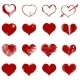 Vector Set of Red Sketch Hearts - GraphicRiver Item for Sale
