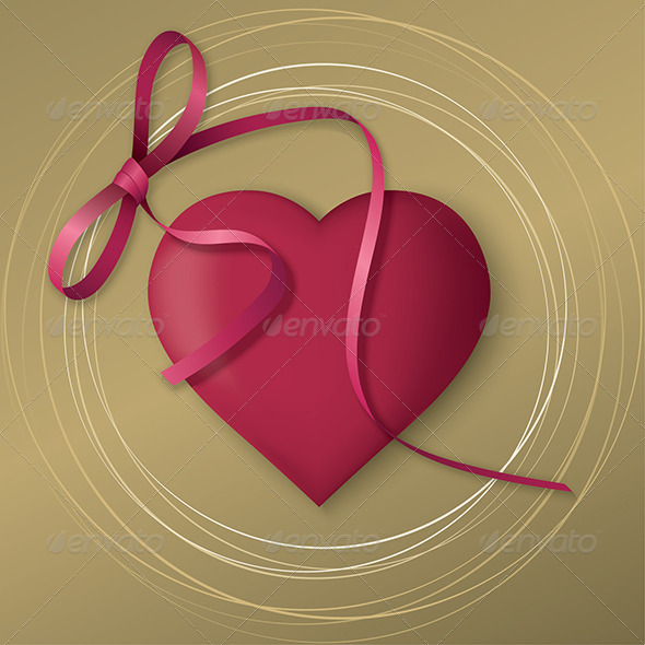 Golden Valentine's Day Card - Valentines Seasons/Holidays