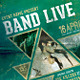 Band live flyer/poster  - GraphicRiver Item for Sale