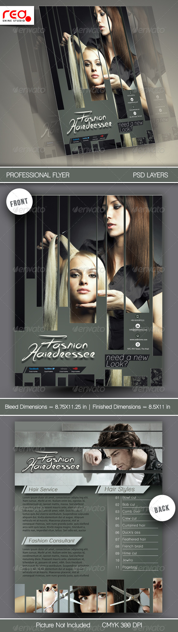 Hair Salons Flyer Template - Corporate Flyers