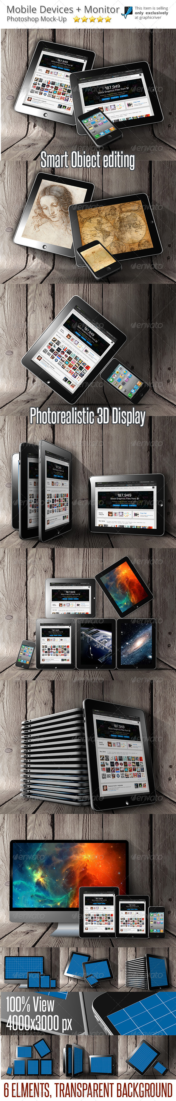 Mobile Devices Mock-Up - Mobile Displays