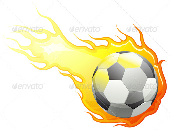 Football on Fire - Sports/Activity Conceptual