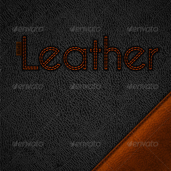 Leather Background - Decorative Vectors