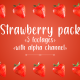 Strawberry Pack (6 Footages) - VideoHive Item for Sale