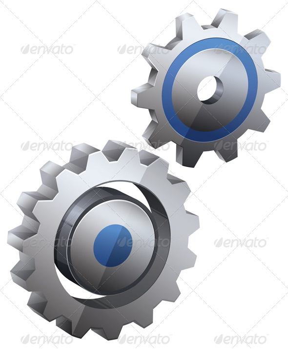 Gear Icon Set  - Technology Conceptual