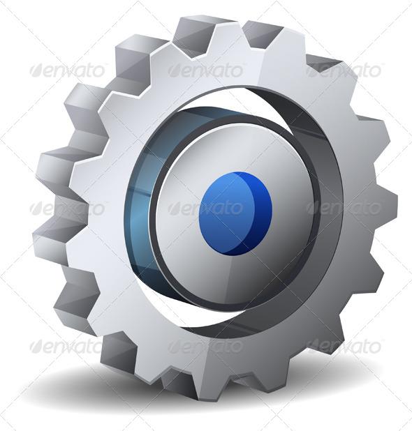 Gear Icon - Technology Conceptual
