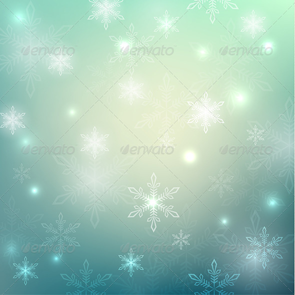 Abstract Background with Snowflakes - Seasons Nature