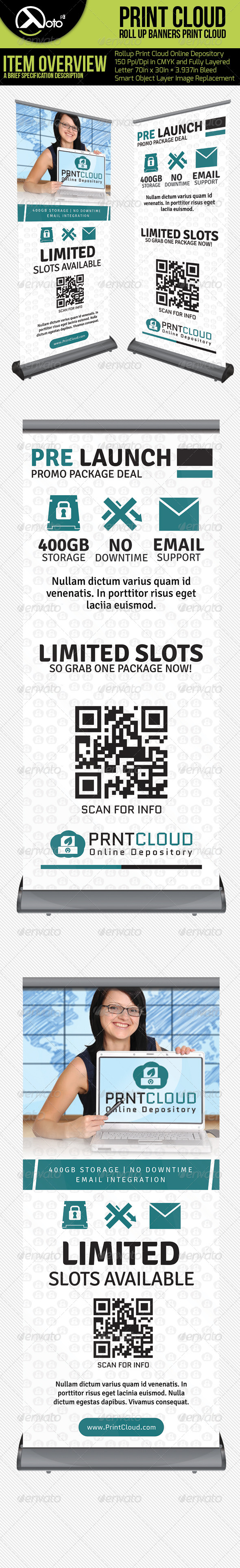Print Cloud Online Depository Roll Up Banners - Signage Print Templates