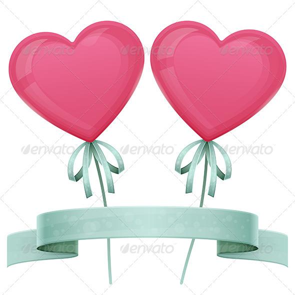 Baloon Heart - Objects Vectors