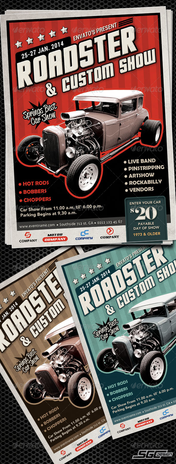 Autoshow Flyer Template - Miscellaneous Events