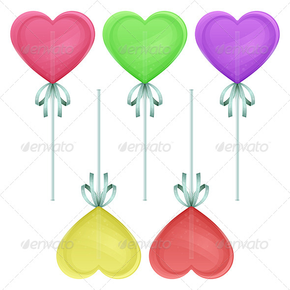 Candy Heart - Objects Vectors
