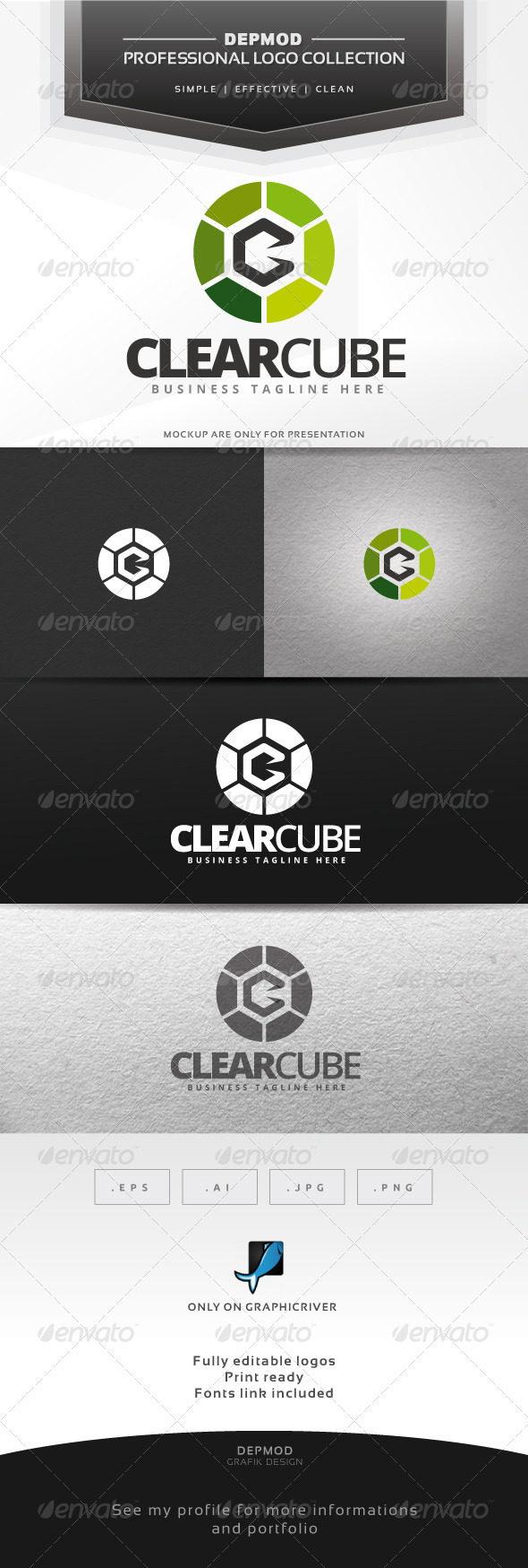 Clear Cube Logo - Abstract Logo Templates