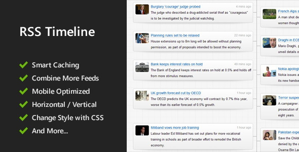 Responsive RSS Timeline - CodeCanyon Item for Sale